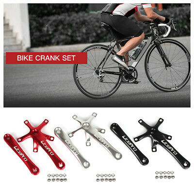 Bike Cycling Bicycle 170MM Crank Arm Set Folding Bike Crank BCD 130MM Five T6L9