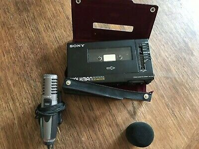 Sony Walkman Pro WM-d6c 1987 W/ Condenser Mic ECM-MS907 (works)