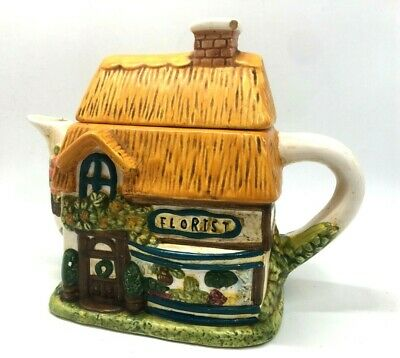 Decorative Florist Building, cottage TeaPot