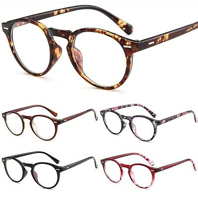 Clear Lens Fashion Glasses Oval Lens Plastic Frame Keyhole Bridge Blocks UV400