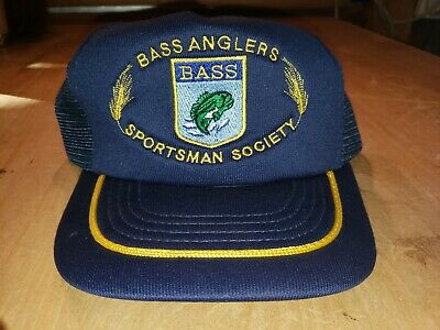 Vintage BASS Bass Anglers Sportsman Society Snapback Truckers Cap