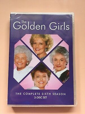 NEW SEALED The Golden Girls: The Complete Sixth Season (Season 6) (3 Disc) DVD