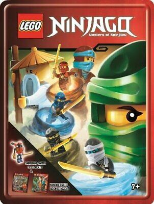 Lego Ninjago Gift Tin 2 Ninjastic Books and Samurai Droid 32 Elements