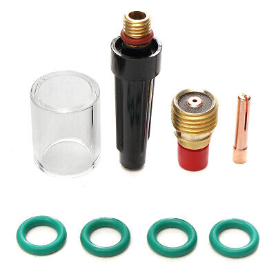 8 Pcs Welding Torch Gas Lens Glass Cup Kit for Tig WP-9/20/25 Series 0.04Inch