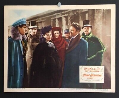 Antiques 1940 Color Original Lobby Card Vivien Leigh And Robert Taylor Waterloo Bridge Nr