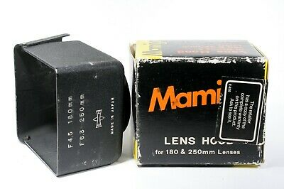 Mamiya Sekor TLR METAL 180mm f4.5 & 250mm f6.3 Lens Hood - JAPAN