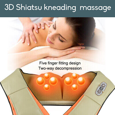 Wrap Shiatsu Vibration Massage Heating Cushion Massager Body/Neck/Shoulder/Leg