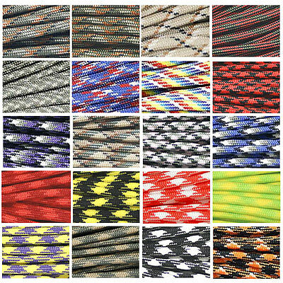 550 Camo Paracord Parachute Cord Lanyard Mil Spec Type III 7 Strand Core 100 FT