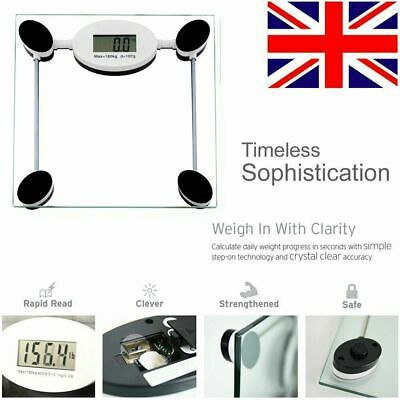 Home Digital Body Fat Scale Bathroom Health Analyser 180KG