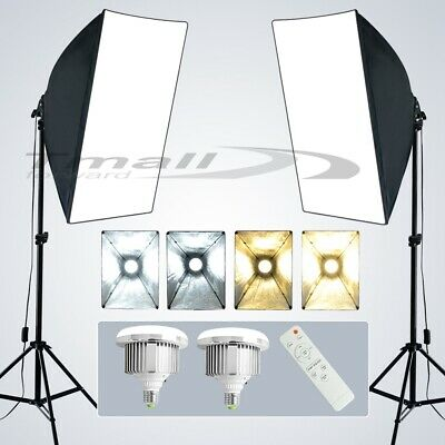 Photo Studio 2X85W Power Dimmable LED Lighting Light Softbox Stand Vedio KIT-NEW