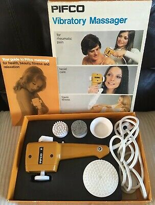 Vintage Pifco Vibratory Massager Boxed,  Instructions 1970s Excellent Working.