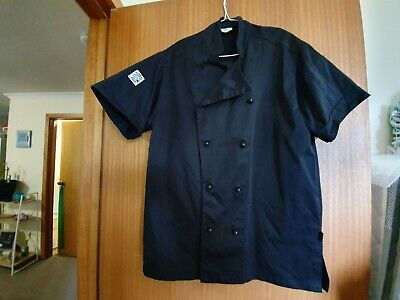 Global Chef, Chef Jacket Black Short Sleeve, culinary apparel