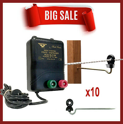 15km MB135 MAINS & BATTERY Powered Electric Fence wood post offset Thunderbird