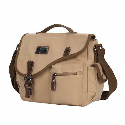 Men's Canvas Messenger Shoulder Bag Handbag Outdoor Travel Hiking Crossbody Bag