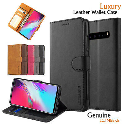 Samsung Galaxy S10 5G S10E Plus S9 Wallet Case, Luxury Leather Flip Stand Cover