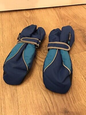 Childrens Thinsulate Mittons, Blue, 4-6