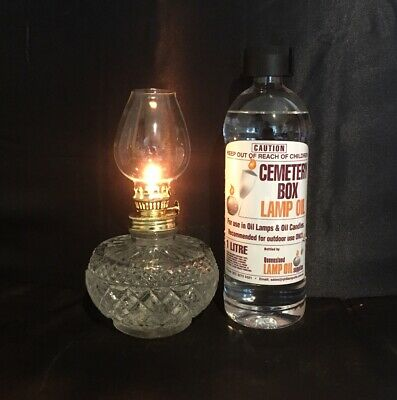 Greek Cemetery Box Oil Lamp Package - Lamp #4 plus 1 Litre Bottle Lamp Oil