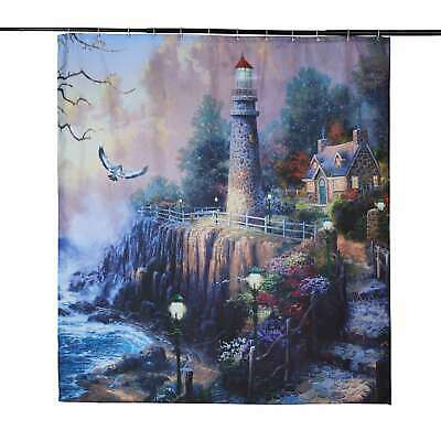 Waterproof Fabric Scenery Bathroom Shower Curtain 12 Hook Polyester 180*180 cm