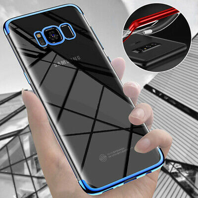 For Samsung Galaxy S8/S9 Plus Case Plating Soft TPU Hybrid Slim Clear Back Cover