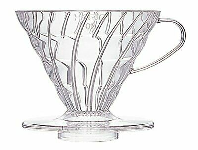 HARIO Hario V60 transparent coffee dripper 02 clear coffee drip 1 to 4 cups for