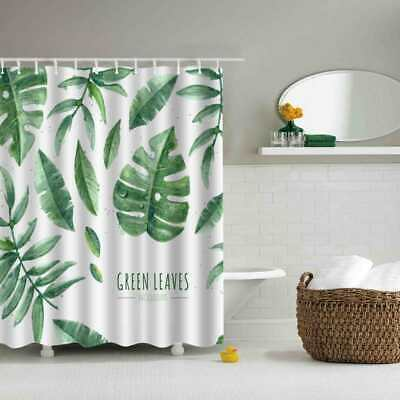 Leaves Forest Bathroom Shower Curtain Waterproof Fabric 12 Hooks 180 * 180 cm UK