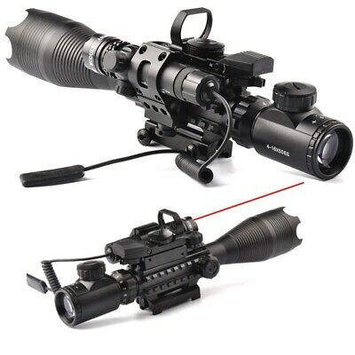 Tactical 4-16X50EG Rifle Scope&Holographic Dual Dot Sight&Red Laser Sight