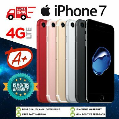 (Grade A+) Apple iPhone 7 32GB 128GB Sim Fee Unlocked Smartphone - All Colour UK