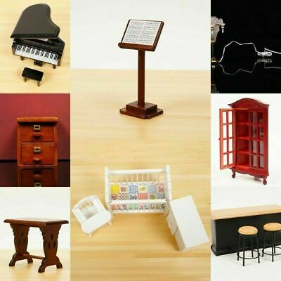 Mini Wooden Music Stand For Doll house Miniature Children Tool Toy High quality