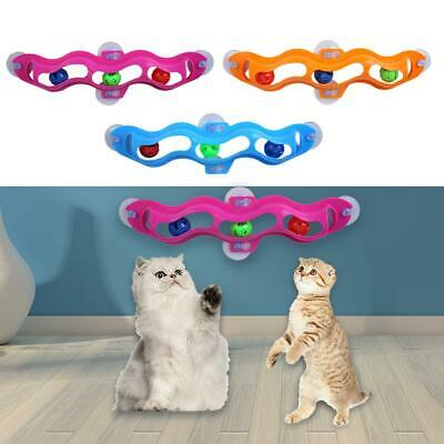 Funny Pet Cat Kitten Interactive Toys Window Suction Cup Track Ball Training Toy