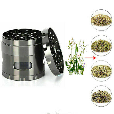 Tobacco Herb Leaf Grinder Spice Herbal 4 Layer Metal Zinc Alloy Smoke Crusher