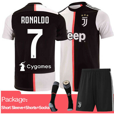 8ba1bc493c4 19 20 Football Kits RONALDO 7 Soccer Suits Training Shirts Jerseys For Kids  Boys