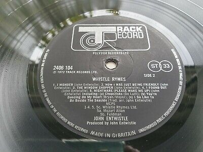 JOHN ENTWHISTLE Who WHISTLE RYMES 1st Mother stamper //1 Press UK LP MINT- PLAY