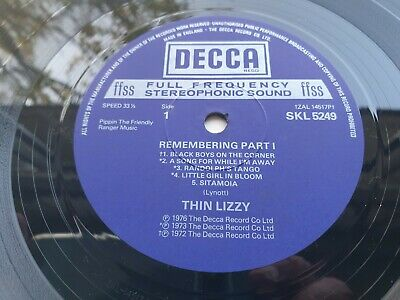 THIN LIZZY REMEMBERING PART 1 1st Press UK ONE PLAY COPY ARCHIVED LP
