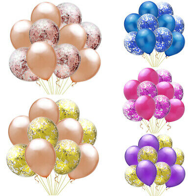 12x CONFETTI FILLED BALLOON 12 Large Helium Quality Party Wedding Decorations T Party Supplies
