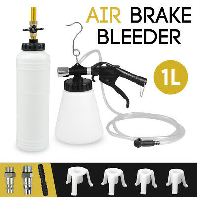 Air Brake Fluid Bleeder Tool Clutch Vacuum Oil Bleeding Extractor Fill Adapters