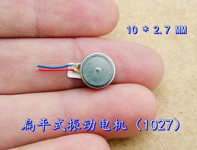 10*2.7mm Mini Vibration Motor DC 2V-6V 3.7v 5v Button Type Vibrating Flat Motor