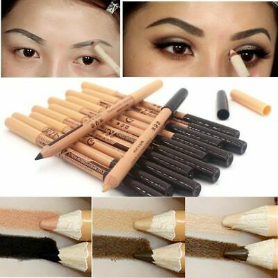 1X Double Ended Makeup Eye Brow Pen Eyebrow Liner Pencil Cosmeti Concealer W2J3