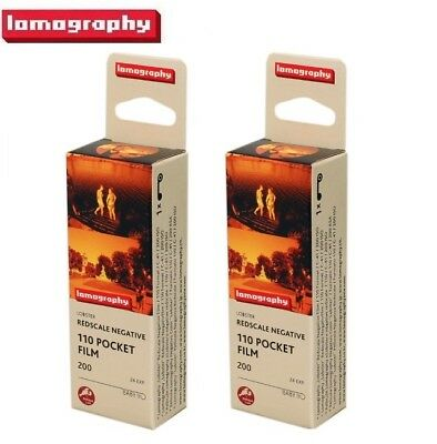 2 x Lomography LOMO Lobster Redscale Negative ISO 200 Color 110 Baby Film - US
