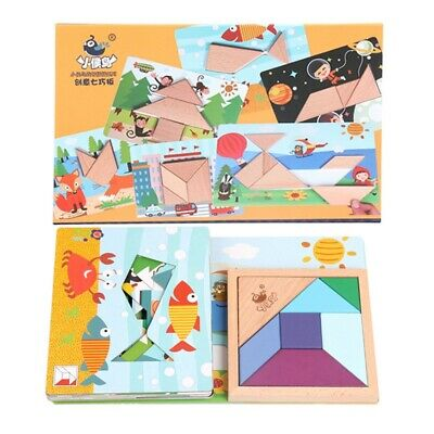 4X(Xiaohouniao Children's Wooden Puzzle Early Education Game Toy Puzzle IntX9D4