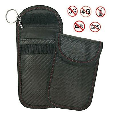 Signal Blocker Car Key Case Faraday Cage Fob Pouch Keyless RFID Blocking Bag UK