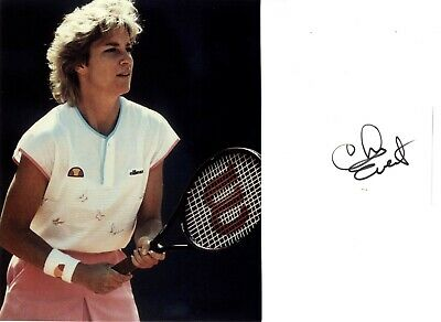 Chris Evert - American Former World Number 1 Tennis Player Hand Signed Card.