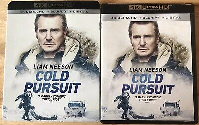 Cold Pursuit 4K Ultra Hd + Blu Ray With Slipcover Sleeve Free Shipping Liam Nees
