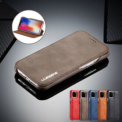 Ultra Slim Leather Flip Stand Cover Wallet Case For iPhone 11 Pro Max 8 Plus 7 6