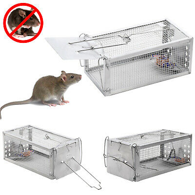 1X Rat Catcher mousetrap Spring Cage Trap Humane  Animal Rodent Indoor Outdoor