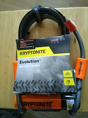 Kryptonite Evolution Mini 7 with 4' Flex Cable - Bicycle U Lock with bracket