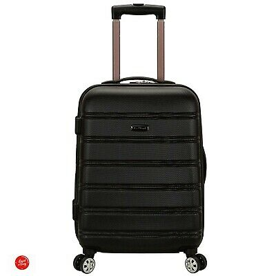 Rockland Melbourne Luggage Hardshell Spinner Hardside 20 Inch Carry On Wheel ABS