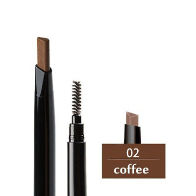 Moderate Brown Eyebrow Pencil Brush Pen Long Lasting Double-ended Makeup Tool #2