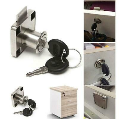 Drawer Cam Lock 22mm with 2 Keys For Cabinet Office Wardrobe Cupboard Home UKYQL