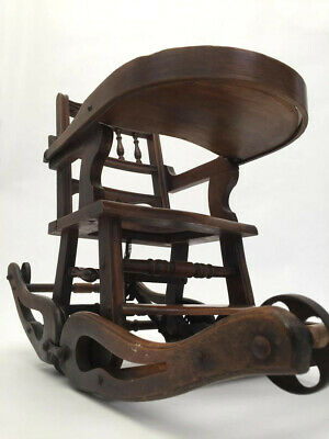 Victorian metamorphic child's chair high rocking chair antique 19th century