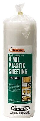 Frost King  Clear  Plastic  Sheeting Roll  For Doors and Windows 25 ft. L x 6 mi